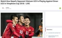 """Đối thủ ở Asiad bám sát, """"do thám"""" U23 Việt Nam"""