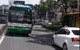 Đình chỉ tài xế lái xe buýt nghênh ngang chạy ngược chiều ở Sài Gòn