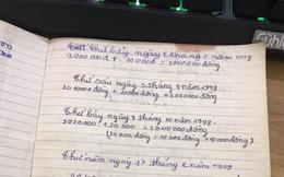 Cô vợ bất ngờ với cuốn sổ ghi chép tiền lì xì siêu tỉ mỉ của chồng từ 20 năm trước được mẹ chồng bàn giao
