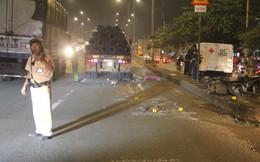 Thi thể người đàn ông biến dạng dưới bánh xe container ở Sài Gòn