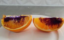 MIếng cam vàng óng ả bỗng hóa màu tím chỉ sau một đêm, và giới khoa học không hiểu tại sao