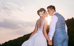 """""""Hoa hậu trả vương miện"""" Đặng Thu Thảo ngọt ngào khoá môi vị hôn phu trong ảnh cưới"""