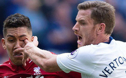 """""""Móc mắt"""" Firmino man rợ, trung vệ Tottenham hứng mưa gạch đá"""