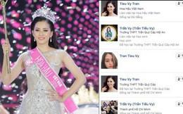 Vừa đăng quang ít phút, hàng loạt Facebook giả mạo Hoa hậu Trần Tiểu Vy đã xuất hiện tràn lan