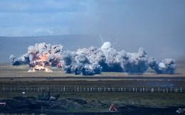 Ảnh: Xe tăng và máy bay Nga giội hỏa lực, nghiền nát mục tiêu tại tập trận Vostok-2018