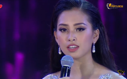 Đương kim Hoa hậu Việt Nam 2018 Trần Tiểu Vy trả lời câu hỏi ứng xử thế nào?