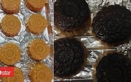 Hình ảnh bánh trung thu 'bóng đêm' chứng minh có những người chỉ ăn thôi đừng vào bếp!