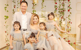 Lần đầu tiên Vũ Thu Phương đưa đủ 4 con gái xuất hiện trước đám đông