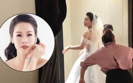 Rò rỉ ảnh được cho là Nhật Kim Anh đi thử váy cưới, dân mạng xôn xao đồn đoán