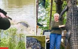Cận cảnh pha hạ gục cá sấu khổng lồ dài 4 mét chỉ bằng một phát bắn