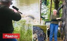 Cận cảnh: Bà cụ hạ gục cá sấu khổng lồ dài 4m chỉ bằng một phát bắn