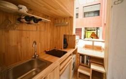 Căn nhà gỗ 7m2 siêu tiện nghi có thể mang đi bất cứ đâu