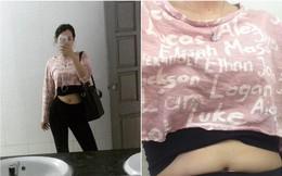 Cùng là cô gái ấy trong bộ quần áo ấy, dân mạng cười bò khi kéo tới bức ảnh cuối cùng: Đúng là cái bụng phản chủ!