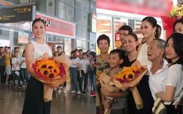 Tân Hoa hậu Tiểu Vy hạnh phúc trở về trong vòng tay chào đón của bố mẹ và người dân Quảng Nam