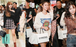 """""""Báu vật quốc dân"""" Seolhyun đẹp rạng rỡ, mỹ nhân vô danh AOA khoe chân dài nổi bật tại sân bay Tân Sơn Nhất"""