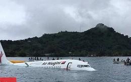 Có 4 người Việt trên máy bay trượt khỏi đường băng lao xuống biển