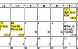 Tết Dương lịch 2019 được nghỉ mấy ngày?