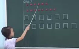 """Hàng loạt clip học sinh đọc bằng hình tròn, hình vuông, hình tam giác được chia sẻ gây """"bão"""""""