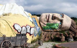 Công viên giải trí bỏ hoang ở Nhật: Nằm cạnh khu rừng tự sát nổi tiếng, bức tượng khổng lồ rùng rợn nằm giữa trung tâm
