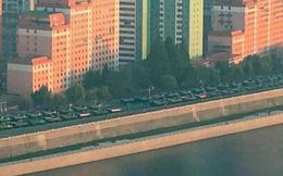 """Đoàn xe quân sự """"rồng rắn"""" chuẩn bị cho khoảnh khắc đặc biệt ngày Quốc khánh Triều Tiên"""