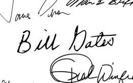 """Chữ ký từ """"đơn giản, nguệch ngoạc"""" tới """"cầu kỳ, uốn lượn"""" tiết lộ tính cách và báo trước dấu hiệu giàu sang của các tỷ phú"""