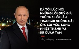 TT Putin kêu gọi người dân tha thứ lỗi lầm, trao yêu thương trong thông điệp năm mới 2018