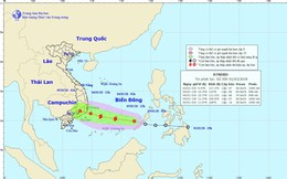 Áp thấp nhiệt đới sắp mạnh thành bão, đang hướng về Nam Bộ