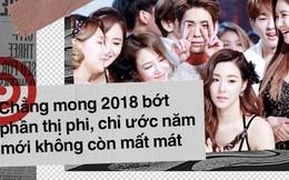 Showbiz 2017 khép lại bằng đau thương, chẳng mong 2018 bớt thị phi, chỉ ước năm mới không còn mất mát