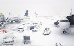 """Cảnh tượng kinh hoàng ngày nước Mỹ chìm trong """"bom bão tuyết"""": Sân bay phủ tuyết trắng, hơn 4,000 chuyến bay bị hủy"""