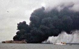 Tìm thấy thi thể trong tàu chở dầu bốc cháy ngoài biển Trung Quốc