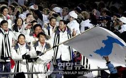 Chân dung nữ VĐV cầm lá cờ thống nhất liên Triều diễu hành tại Olympic