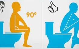 Đây mới là tư thế ngồi khi đi vệ sinh tốt nhất cho sức khoẻ