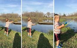 Đưa con đi câu cá, người bố đã có hành động rất thông minh khi dạy con tự lập