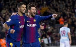 """Messi lập cú đúp, Barca """"nghiền nát"""" đối thủ khó chơi"""