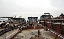 5 tàu Hải Dương nửa đêm ra Hà Nội trộm cát
