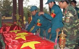 Tìm thấy 11 hài cốt liệt sĩ kèm nhiều di vật ở gần sông Thạch Hãn