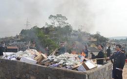 Tiêu hủy gần 70kg heroin do đối tượng người Lào chuyển qua Việt Nam