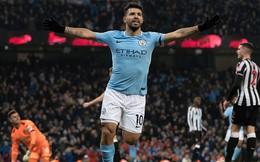 Aguero lập hat-trick, Man City