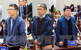 Thẩm phán bắt đầu đọc bản án cho bị cáo Đinh La Thăng, Trịnh Xuân Thanh và đồng phạm