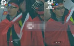 Xuất hiện vài giây trên màn hình, chàng CĐV Việt Nam bỗng nhiên thu hút mọi chú ý