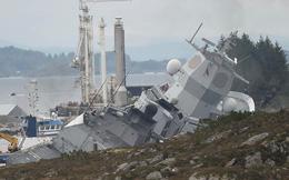 Video: Khu trục hạm Na Uy chìm dần sau khi bị tàu chở dầu đâm rách thân