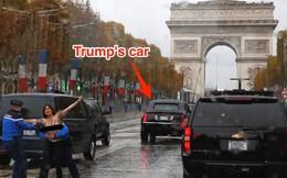 Một người biểu tình ngực trần lao tới gần xe Tổng thống Mỹ ở Paris