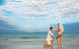 Lại thêm một bộ ảnh cưới khá sốc, cô dâu có thân hình bốc lửa táo bạo khoe vòng 3 nóng bỏng