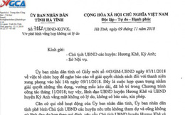 Vắng họp không lý do, 2 chủ tịch huyện ở Hà Tĩnh bị phê bình