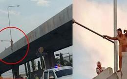 Khỏa thân định tự tử trên cầu, thanh niên làm náo loạn đường phố