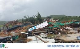 Lốc xoáy tại Gành Đá Dĩa, Phú Yên, làm 27 người bị thương