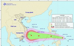 Bão sắp vào biển Đông, hướng vào Nam Trung bộ