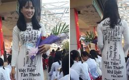 Cô giáo nhà người ta: Diện áo dài in tên toàn bộ học sinh trong lớp nhân ngày 20/11