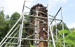 Mang sắt thép quây chằng chịt chống đỡ phật viện lớn nhất Đông Nam Á