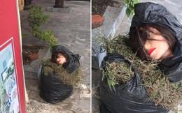 Sang đông gió lạnh run người, ra cửa nhà bỗng toát cả mồ hôi vì bắt gặp đôi mắt từ trong túi rác